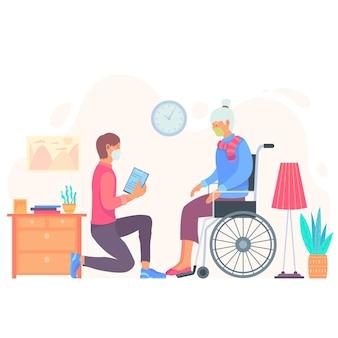 Wolontariusze pomagają osobom starszym