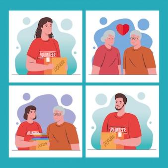 Wolontariuszki z pudełkiem darowizn