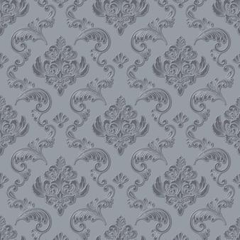 Wolumetryczne tło wzór adamaszku