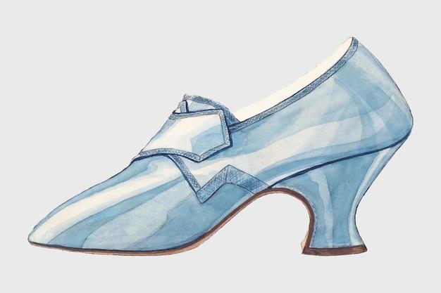 Woman's shoe vintage wektor, zremiksowany na podstawie grafiki autorstwa melity hofmann.