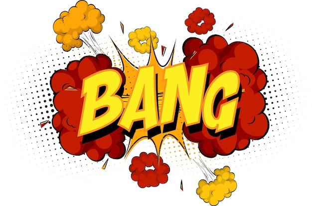 Word bang w chmurze komiksów