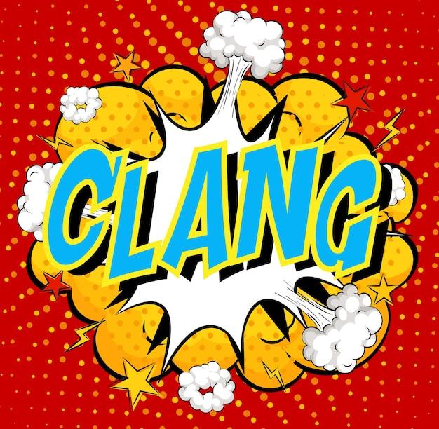 Word clang w chmurze komiksu