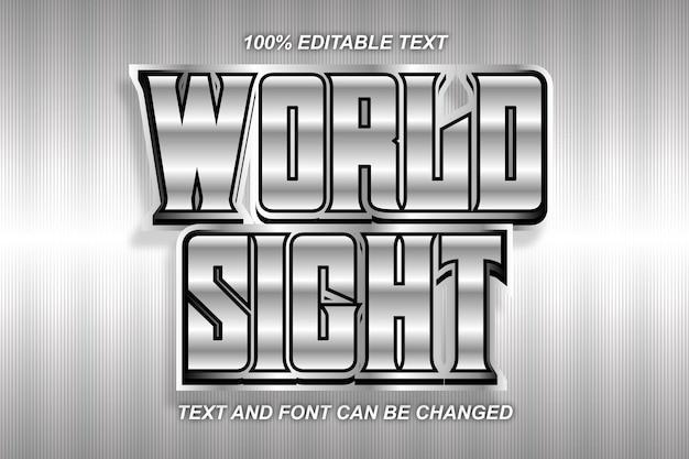 World sight edytowalny efekt tekstowy nowoczesny styl