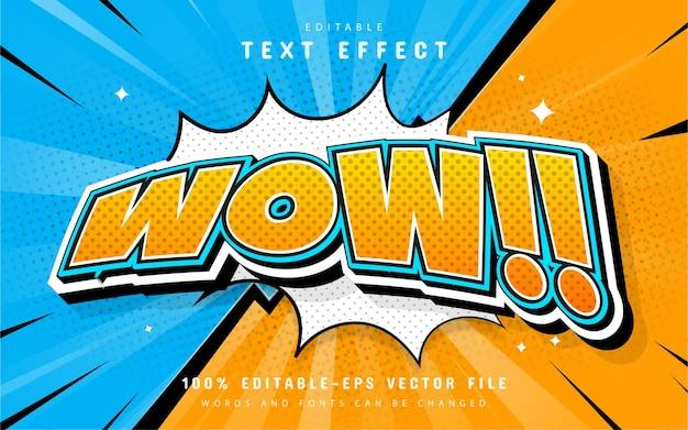 Wow efekt tekstowy w stylu komiksowym!