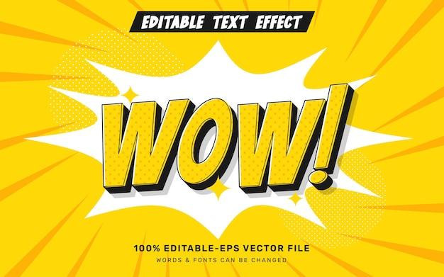 Wow komiks efekt tekstowy