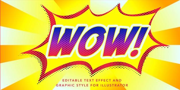 Wow pow styl edytowalny efekt tekstowy