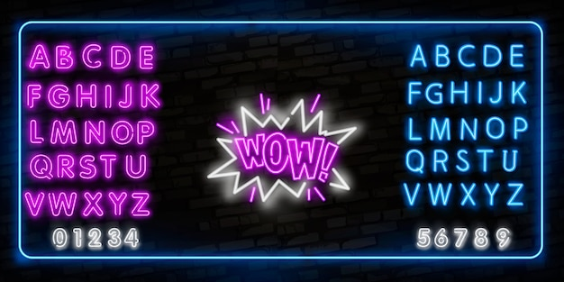 Wowneon sign