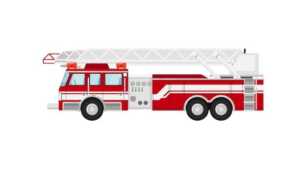 Wóz strażacki na białym tle ilustracja