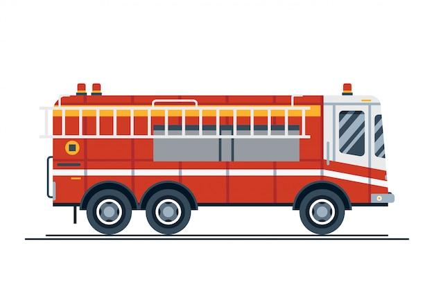 Wóz strażacki z pojazdem ratowniczym
