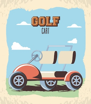 Wózek golfowy w klubie