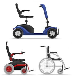 Wózek inwalidzki dla niepełnosprawnych ludzi ilustracji wektorowych