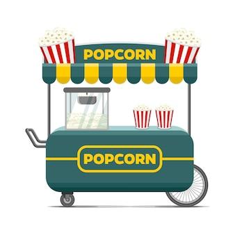 Wózek na jedzenie popcorn.