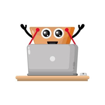 Wózek na zakupy laptopa śliczna maskotka postaci