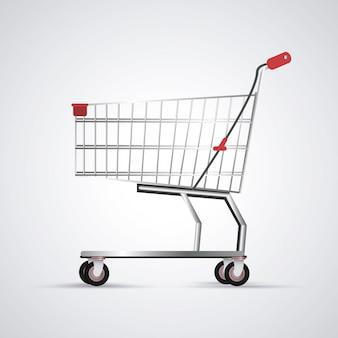 Wózek sklepowy. ikona handlu i sklepu