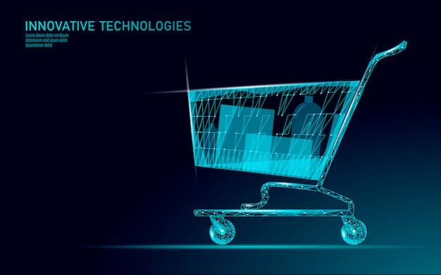 Wózek sklepowy . technologia rynku handlu internetowego. kup teraz szablon. sprzedaż mobilna