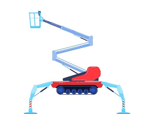 Wózek widłowy spychacz przemysłowy w stylu płaskiej