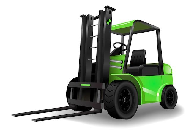 Wózek widłowy zielony