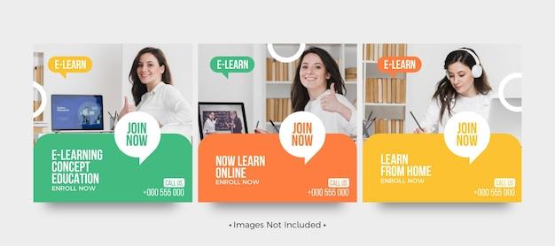 Wpis w mediach społecznościowych dotyczący edukacji e-learningowej