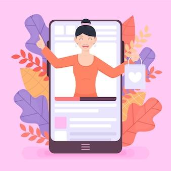 Wpływowa kobieta i przegląd blogów