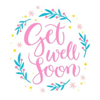 Wracaj do zdrowia wkrótce napis projektu wiadomości