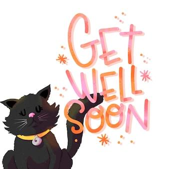 Wracaj do zdrowia wkrótce z kotem