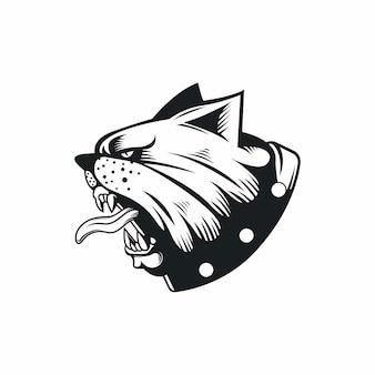 Wredny buldoga pies gniewny zwierzę sport maskotka postać z kreskówki