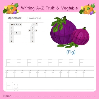 Writing az fruit & vegetables f