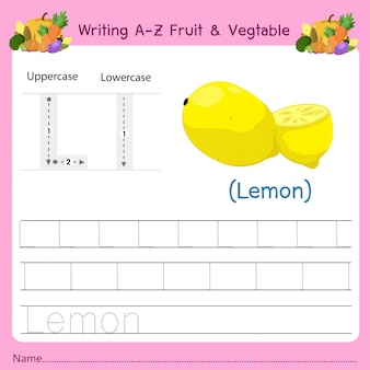 Writing az fruit & vegetables l