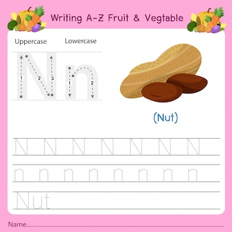 Writing az fruit & vegetables n