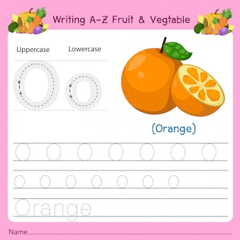 Writing az fruit & vegetables o