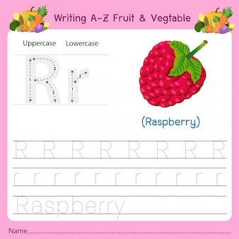 Writing az fruit & vegetables r