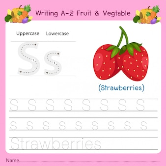 Writing az fruit & vegetables s