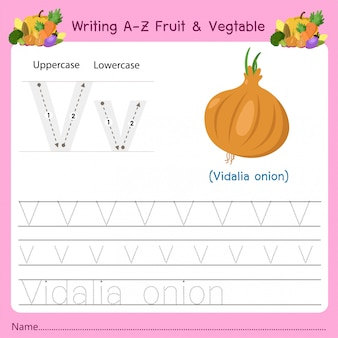 Writing az fruit & vegetables v