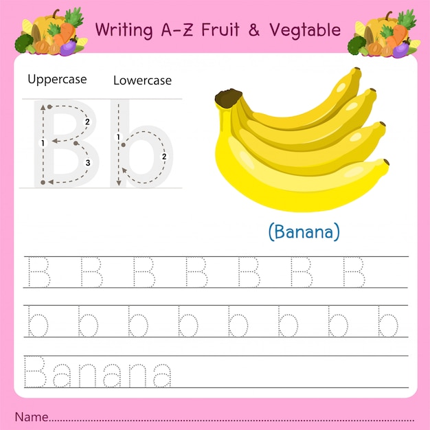Writing az owoce i warzywa b