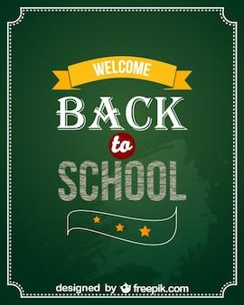 Wróć do szkoły wektor