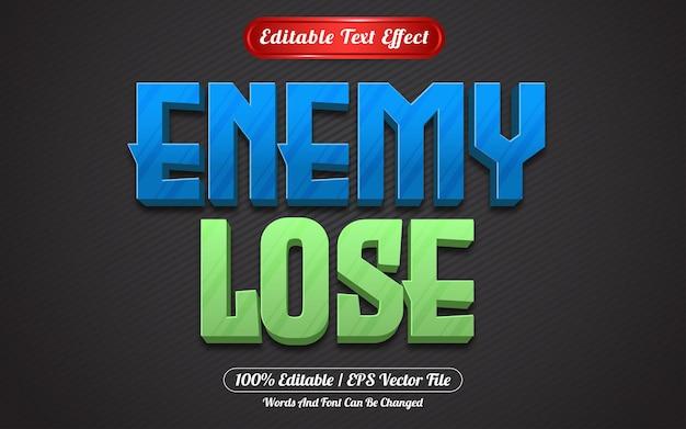Wróg traci edytowalny styl gry z efektem tekstowym