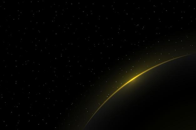 Wschód słońca na planecie ziemia. atmosfera globe horizon