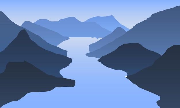 Wschód słońca w górach. krajobraz gór. piesze wycieczki - poranny widok.
