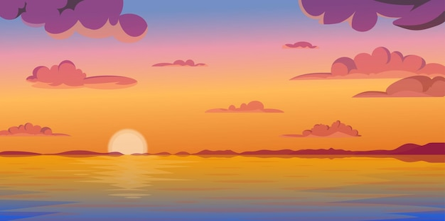 Wschód słońca w tle