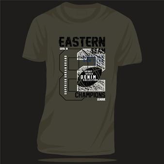 Wschodni sport zespołowy typografia grafika wektorowa do projektowania koszulek inspirująca