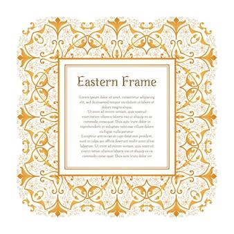 Wschodnia złota rama vintage