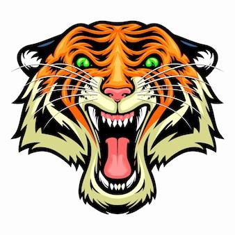 Wściekła głowa tygrysa