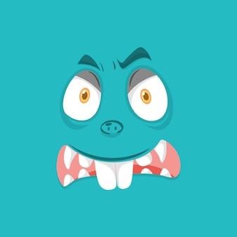 Wściekła twarz potwora