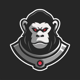 Wściekły niedźwiedź grizzly maskotka e-sportowa postać logo