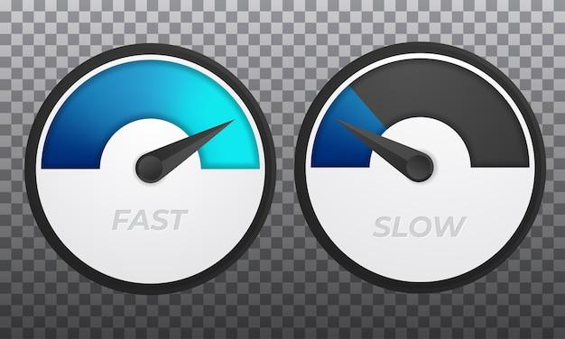 Wskaźniki prędkości ze wskazówką na desce rozdzielczej pojazdu