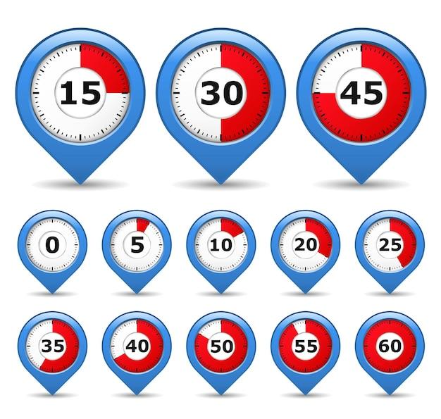 Wskaźniki z licznikami czasu, ilustracja