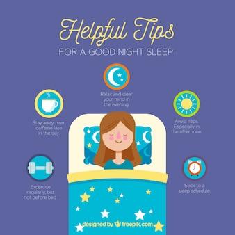 Wskazówki dotyczące dobrego snu w nocy
