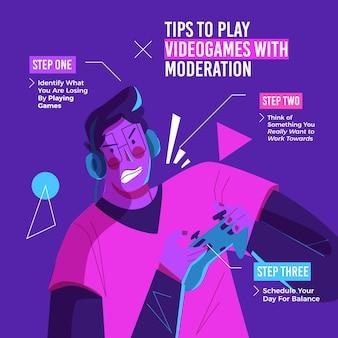 Wskazówki dotyczące grania w gry online z umiarem przez gracza