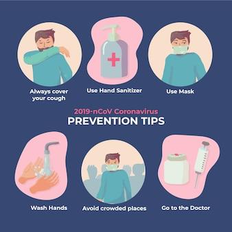 Wskazówki dotyczące zapobiegania koronawirusowi