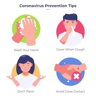 Wskazówki dotyczące zapobiegania / ochrony przed koronawirusem